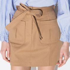 skirt high waist blended woolen skirt