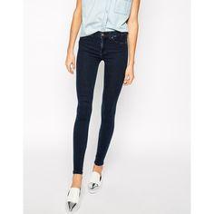 Dr Denim Plenty High Waist Skinny Jeans ($63) ❤ liked on Polyvore