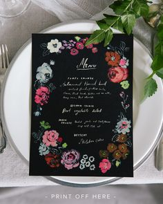Free downloadable menu card for your party by Danielle Kroll for The House That Lars Built