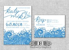 diy Printable ocean beach nautical Wedding by blackberrygraphics, $30.00