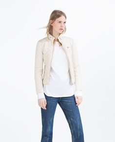 Image 2 of CONTRAST KNIT JACKET from Zara