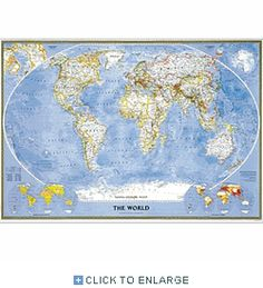 2014 Political World Map National Geographic Atlas of the World