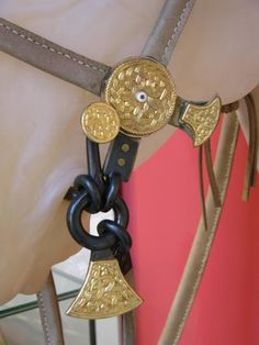 'A Return to the Hoo': A small series of photographs from various visits to the Sutton Hoo Visitor Centre courtesy of Lindsay Kerr. A reconstruction of the horse bridle from the Mound 17 burial.