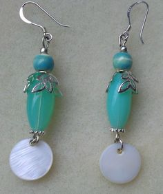 Blue Glass Earrings I want some for my birthday gonna find em!