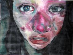 me jenny saville style by Farmistead Portraits, Portrait Art, Jenny Saville Paintings, Close Up Art, A Level Art, Face Art, Art Faces, Figure Painting, Cool Art