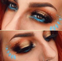 inspiração-maquiagem-princesas-disney-pocahontas-princess-makeup