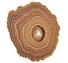 paper and sculpture? Artist Jen Stark (Natalie, pretty please? Jen Stark, Fractal, Art Basel Miami, Wood Sculpture, Paper Sculptures, Paper Cutting, Cut Paper, Paper Art, Paper Glue