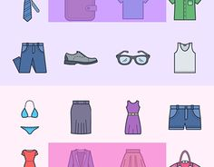 "Check out new work on my @Behance portfolio: ""Clothes and accessories icons for men and women"" http://be.net/gallery/36666195/Clothes-and-accessories-icons-for-men-and-women"