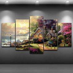 Haunted Venue Landscapes TREBLE CANVAS WALL ART Picture Print VA