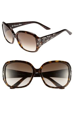 Sparkling swirls of faceted crystal inlays brighten sophisticated sunglasses with smoky gradient lenses.57mm lens width 17mm bridge width 130mm temple length.100% UV protection.Plastic.Made in Italy.Sunglasses Fit Guide #Fashion  #Nordstrom