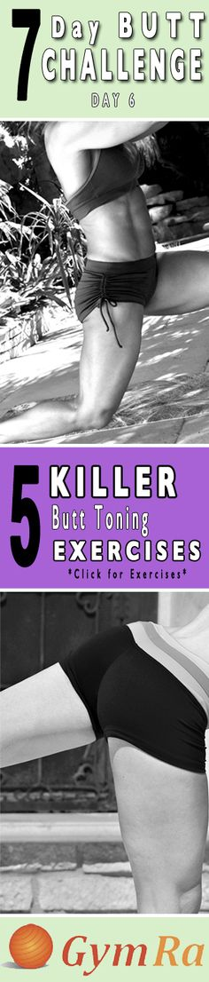 These moves are designed to tighten, tone, lift, & reshape your butt. Transform yourself, get fit & healthy!