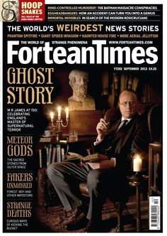 Robert Lloyd Parry as MR James on this cover of the Fortean Times