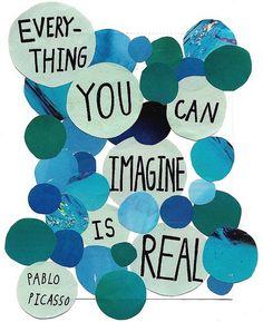 Turquoise imagination truth    Pablo Picasso