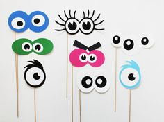 Silly Monster eyes Photo Booth Prop set. Birthday Photobooth Props on a stick photobooth free shipping(China (Mainland))