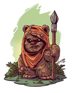 5 Funko Pops Every Gamer Should Own - Star Wars Ewok - Ideas of Star Wars Ewok - Ewok Print by DerekLaufman Star Wars Fan Art, Chibi Characters, Star Wars Characters, Cartoon Kunst, Cartoon Art, Desenho Do Star Wars, Star Wars Karikatur, Logo Super Heros, Star Wars Zeichnungen