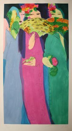 Walasse Ting  (丁雄泉),1928-2010, Chinese artist