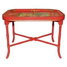 Red Chinoiserie Tray Table...ca.1825