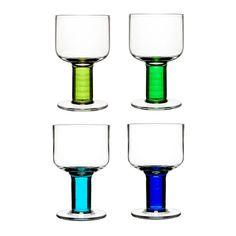 SALE Sagaform all Purpose Glasses Blue/Green from www.illustratedliving.co.uk
