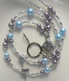 Beaded Lanyard, Badge Holder, Swarvoski Pearls Id Holder. $23.75, via Etsy.