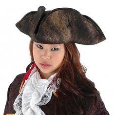 Fancy Dress Hat - Elope Pirate Tricorn Hat from Village Hats.