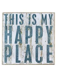"""""""This is my Happy Place"""" Rustic Wall Decor"""