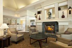 Classy, white, sleek lobby