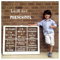 First/last Day of School photo idea!