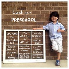 First/last Day of School photo idea!