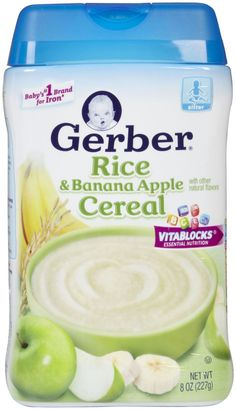Gerber Infant Banana Apple Rice Cereal - 8 oz - Free Shipping $3.80