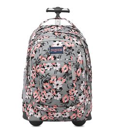 For a life on-the-move, the JanSport Driver 8 rolling backpack converts from backpack to roller with tuck-away shoulder straps.