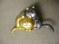 Vintage Danecraft Fat Cats with Moving Tails by MultiPolarity, $8.95