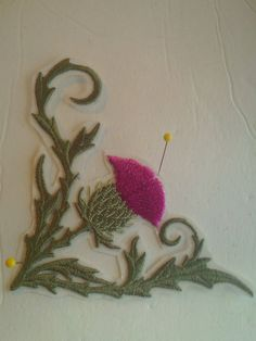 Embroidery Ironon Patch Thistle by DianaRomeroHandmade on Etsy, $6.00