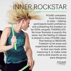 Inner Rockstar. From the Pound Info Series on Instagram.