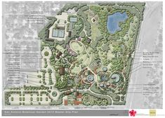 SA Botanical Garden, Master Site Plan 2010 - it's pretty big Architecture Site Plan, Landscape Architecture Design, Architecture Drawings, Park Landscape, Landscape Plans, Urban Landscape, Urban Ideas, Planer Layout, Project Presentation