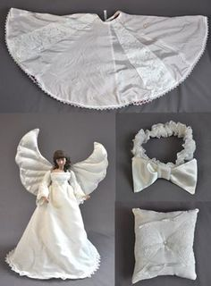 Molly Wanted A Number Of Items Made From Her Wedding Dress For The Holiday Season