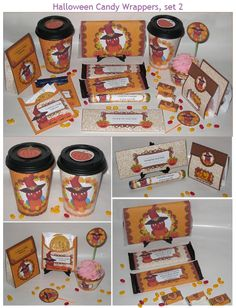 Halloween Candy Wrappers-YOU CAN PURCHASE-- http://printsofjoy.com/printables/HalloweenCandy_set2.shtml