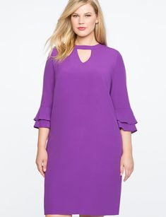 Ruffle Sleeve Easy Dress from eloquii.com