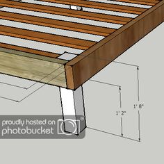 I'm in the planning stage of building a bed frame for my bride and I - constrained by budget, and design requirements. I'm looking to build a queen-size. Simple Bed Frame, Diy Bed Frame, Diy Platform Bed Plans, Diy Bedframe With Storage, Homemade Sofa, Rustic Bedroom Design, Built In Bed, Flat Bed, Wood Beds