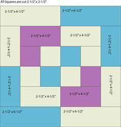 Use Color and Contrast to Sew a Unique Bento Box Quilt: Patch Sizes to Sew Bento Block One Piece at a Time