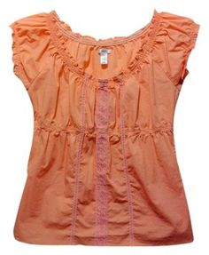 $8.99 with free shipping: Old Navy Lace Lace Trim Cotton Pink Top peach