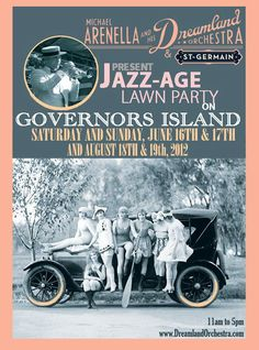 Jazz-Age Lawn Party this weekend on Governors Island!