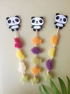 Perfect for a candy bar or fruit station Panda Birthday Cake, Baby Birthday Cakes, First Birthday Party Themes, Birthday Party Decorations, Panda Candy, Panda Themed Party, Panda Decorations, Kokeshi Dolls, Alaia