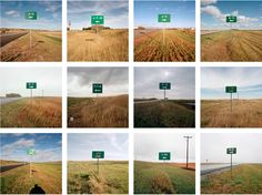 Jeff Brouws, After Trinity: Proximity - Typology of directional signs for locations of Minuteman missile silos, various locations near Minot, North Dakota Narrative Photography, Photography Series, Conceptual Photography, Photography Courses, Photography Camera, Still Life Photography, Street Photography, Landscape Photography, Sequence Photography