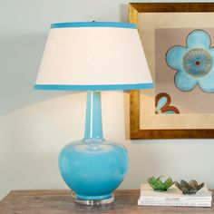 Bottleneck Ceramic Table Lamp  5 colors