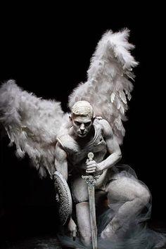 Sebastian Sauve is a Fallen Angel for L'Officiel Hommes Greece Shoot - . - Sebastian Sauve is a Fallen Angel for L'Officiel Hommes Greece Shoot – # - Male Angels, Angels And Demons, Male Fallen Angel, Fallen Angel Tattoo, Art Masculin, Sculpture Art, Sculptures, Angel Tattoo Designs, Ange Demon