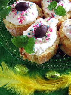 Pääsiäisleivokset Kuva-041-575x766 Pavlova, Birthday Cake, Desserts, Food, Tailgate Desserts, Deserts, Birthday Cakes, Essen, Postres
