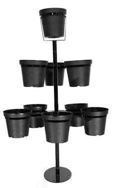 Mini Flowertunia Tree outdoor plant stand, 5 feet tall, holds nine pots (included.) Two mounting options: above ground base plate for decks/patios, concrete driveway OR in ground pole mounted. Christmas House Lights, Christmas String Lights, Christmas Decorations, Fall Mums, Pergola Pictures, Plant Cuttings, Metal Tree Wall Art, Outdoor Garden Furniture, Flower Pots