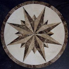 Large Round Comp Floor Medallion Decorative Tile Designs