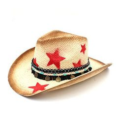HXGAZXJQ 100% Straw Women Western Cowboy Hat with Tassel Leather Band Star Lady  Dad Sombrero 4380511e90cd