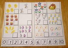 Min blogg om allt mellan himmel och jord: Gratis pedagogiskt material: Matematikhäfte med påsktema Preschool Crafts, Blogg, Montessori, Calendar, Learning, Holiday Decor, Home Decor, Maths, Parents